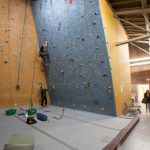 Climbing Bay 3 with 20° overhang wall