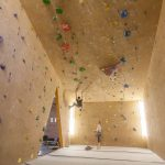 Climbing Bay 1, roof bay, lead only 60° overhang